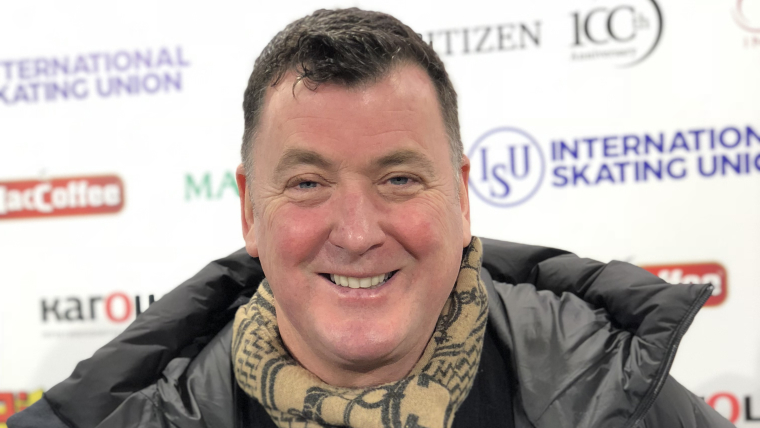 Brian Orser at the 2019 ISU European Figure Skating Championships (Olympic Channel)
