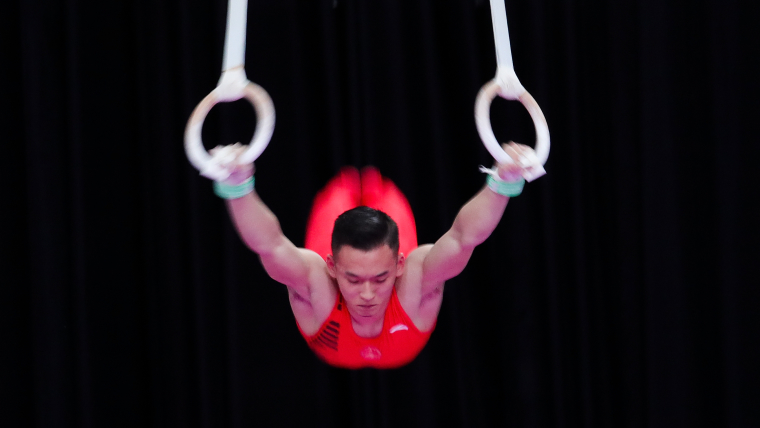 Xiao Ruoteng performing during the Asian Games in Jakarta