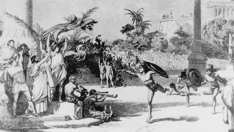 オリンピアは全能の神ゼウスの聖地であり、古代オリンピックはゼウスに捧げる競技祭として始まった