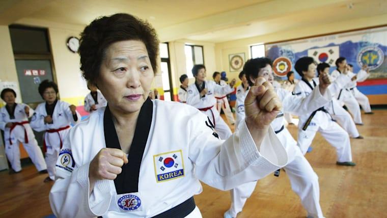 発祥の地、韓国でテコンドーは広く親しまれている。