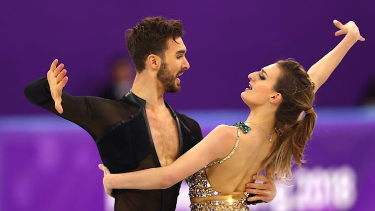 Ice Dancers Gabriella Papadakis and Guillaume Cizeron of France
