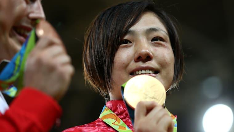 リオ五輪 柔道女子70kg級で金メダルを獲得した田知本遥選手