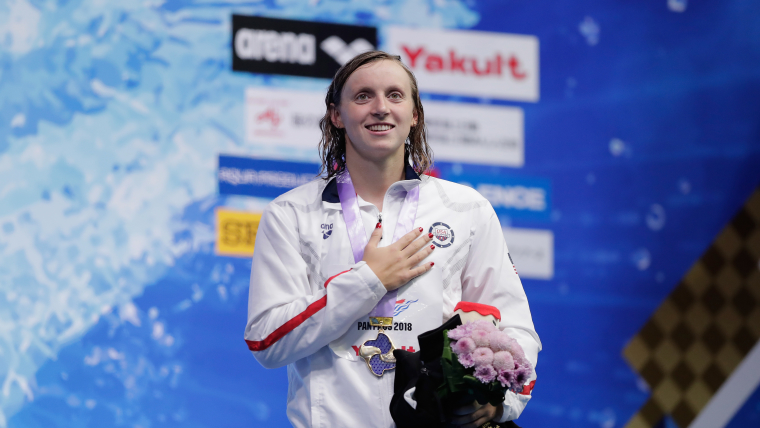 Katie Ledecky won three golds at the Pan Pacs in Tokyo
