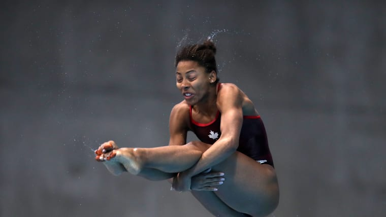 Canada's Jennifer Abel competes in the individual 3m springboard event