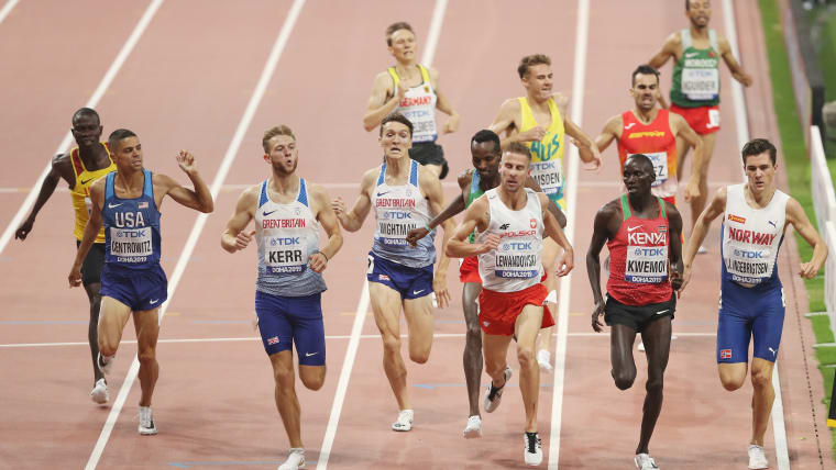Marcin Lewandowski of Poland wins the 1500m Heat 2. (Photo by Patrick Smith/Getty Images)