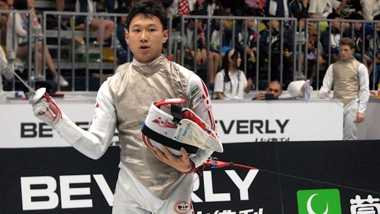 2017年には世界選手権で準優勝、全日本フェンシング選手権では優勝を果たした/時事