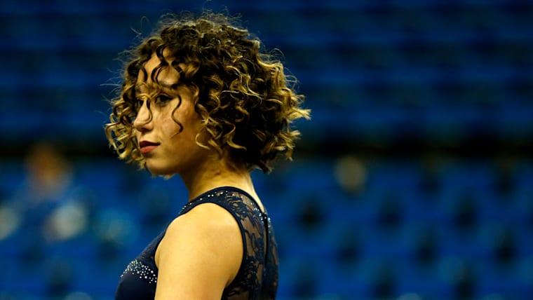 Gymnast Katelyn Ohashi performs