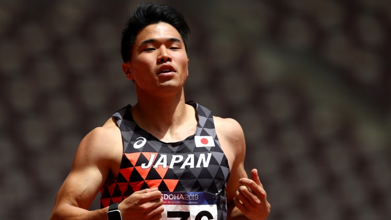 Yuki Koike competing in Doha at the 2019 Asian Athletics Championships (Photo by Francois Nel/Getty Images)