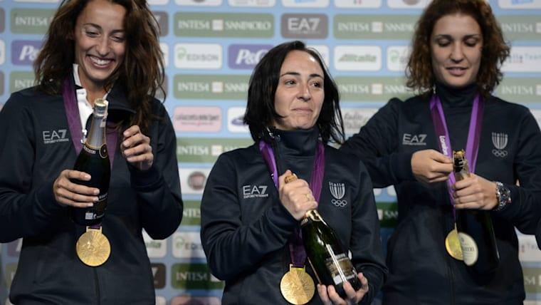 ロンドン五輪の女子フルーレではイタリア勢が活躍。個人では表彰台を独占し、団体でも金メダルを獲得した