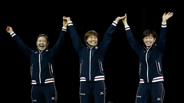 2012年ロンドン五輪では、日本女子卓球界をけん引してきた仲間たちと女子団体で銀メダルを獲得した