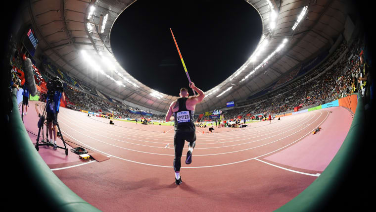 Johannes Vetter captured brilliantly by photographer Matthias Hangst of Getty Images.