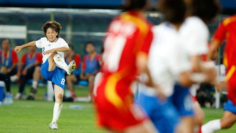2003年から代表でプレーする宮間は正確なキックを武器にチャンスメーカーとして活躍し、北京五輪のベスト4入りに貢献した