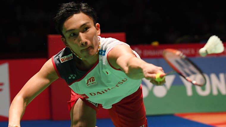 桃田賢斗は、男子シングルス準決勝に進んだ(写真は2018年のジャパン・オープン)