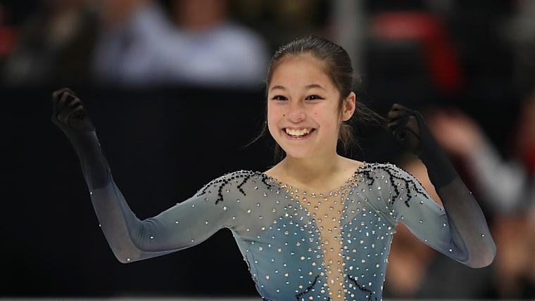 Alysa Liu at the 2019 U.S. Figure Skating Championships in Detroit, Michigan