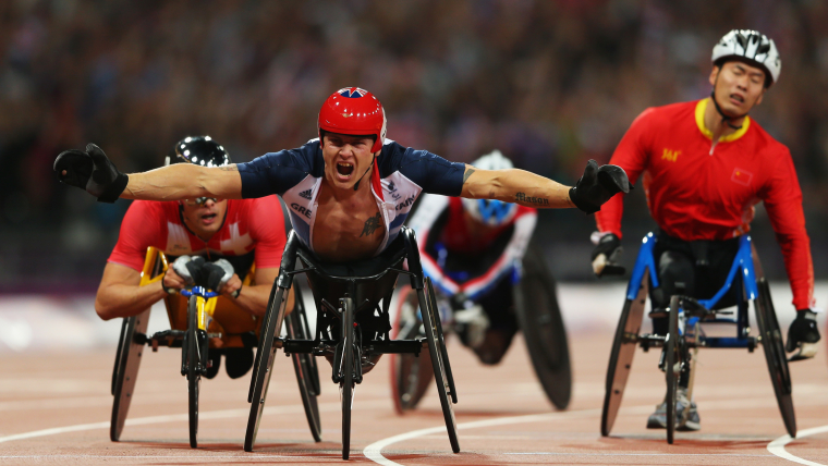 David Weir celebrating at London 2012
