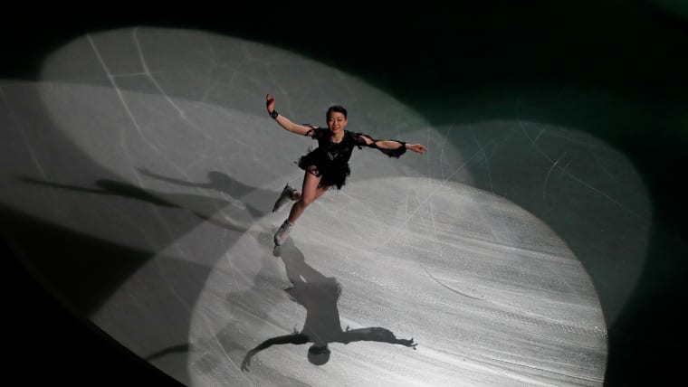 Rika Kihira of Japan during her exhibition skate (REUTERS-Issei Kato)