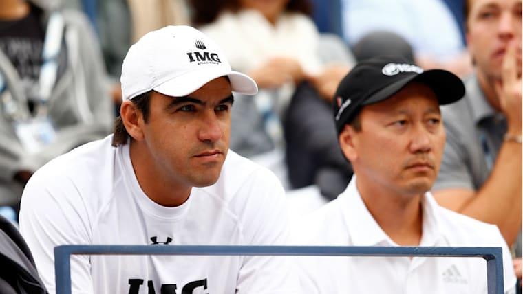 ボッティーニ(左)とチャン(右)の両コーチの関係は良好。ボッティーニは「お互いがお互いをうまく補完し合っています」と話す