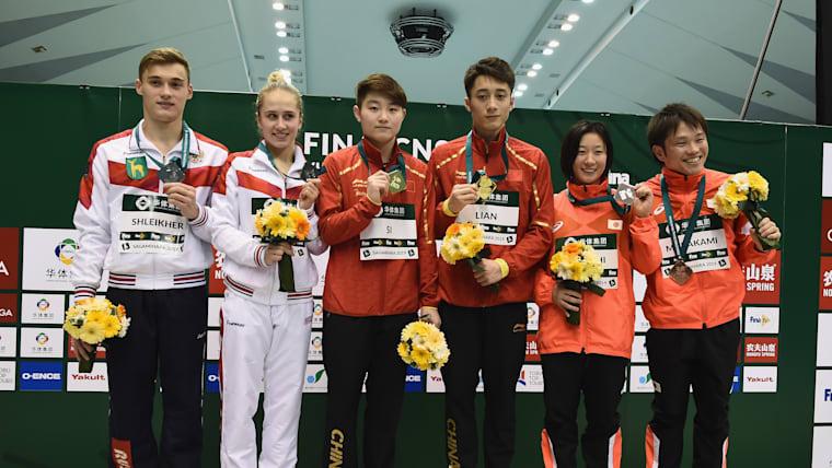 村上和基・板橋美波ペアは10m混合シンクロで銅メダルに輝いた