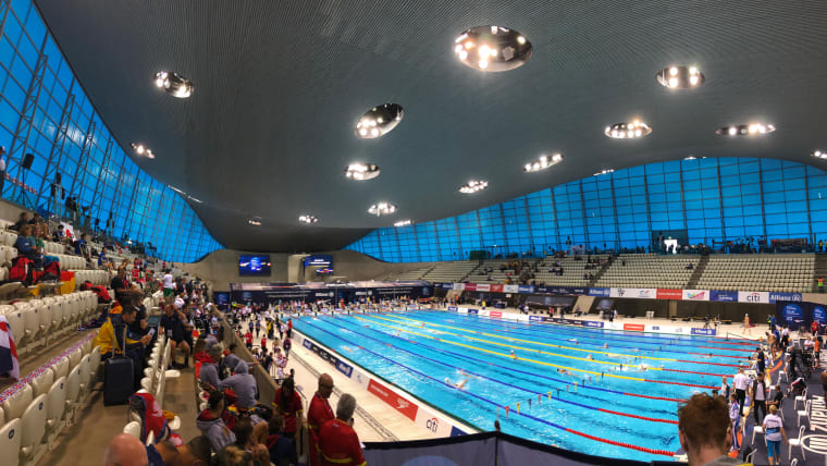 The London Aquatics Centre is looking lovely this morning!