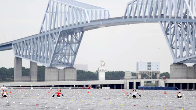 瀬立選手が生まれ育った江東区にある海の森水上競技場
