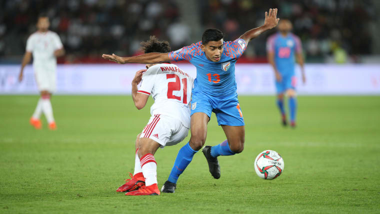 Ashique Kuruniyan was a live wire on the field at the 2019 AFC Asian Cup. Image courtesy: AIFF Media