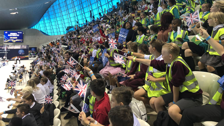 The crowd is loving it at the London Para Worlds