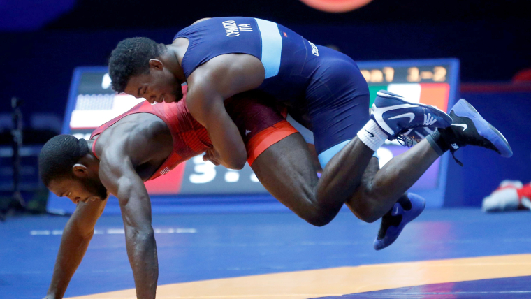 Frank Chamizo in action at the 2017 World Championships in Paris