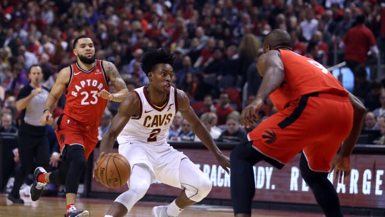 Collin Sexton on the charge for the Cleveland Cavaliers