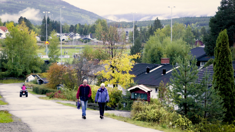 The small mountain town of Øyer in Norway