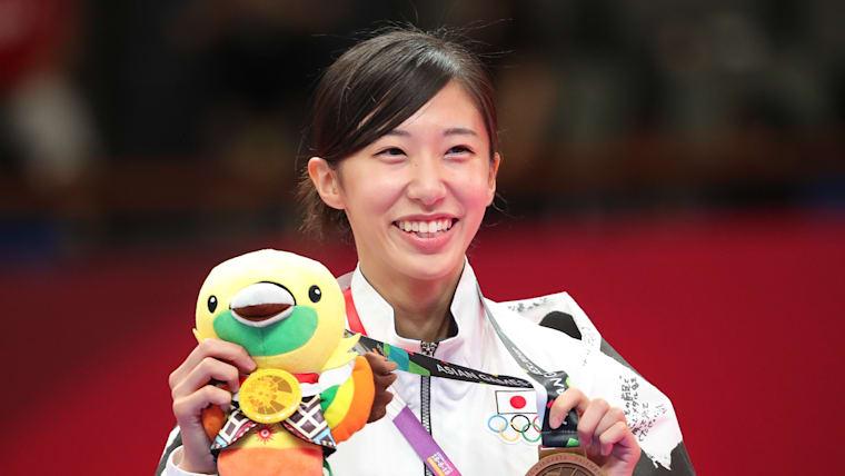 山田美諭は18年アジア大会49kg級で銅メダルを獲得。