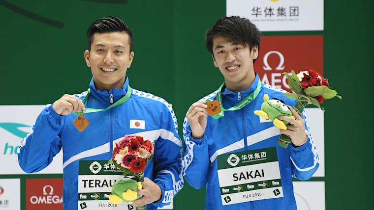 世界水泳でメダルを獲得した寺内健・坂井丞ペア