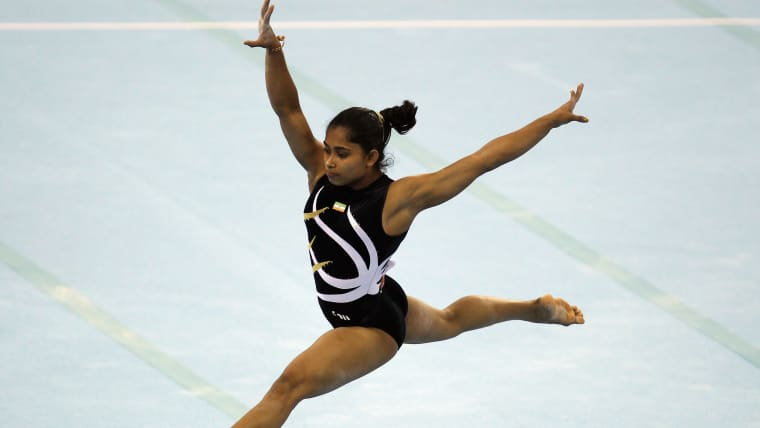 Dipa Karmakar at the 2010 Asian Games in China