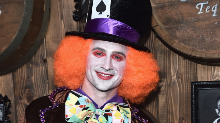 Banned swimmer Ryan Lochte at Halloween party