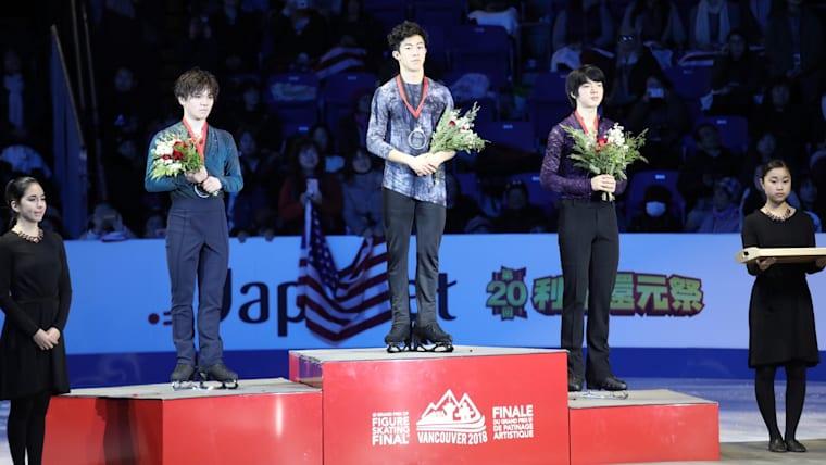 2018 ISU Grand Prix of Figure Skating Final Men's podium finishers