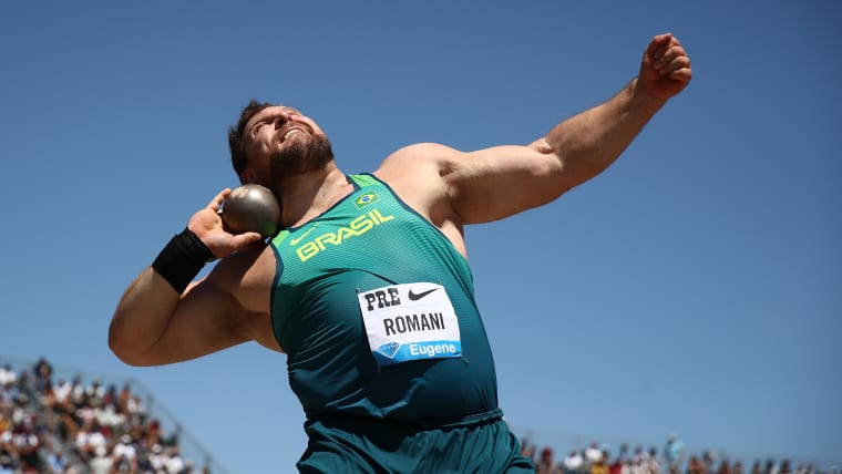Darla Romani wins the shot put at the 2019 Prefontaine Classic in Stanford