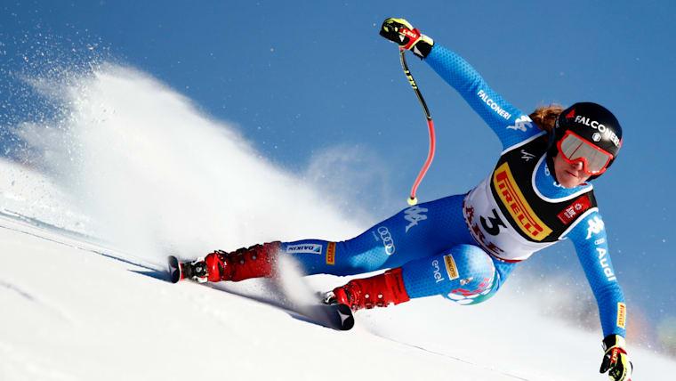 Sofia Goggia takes the lead in the World Championship Super-G at Are