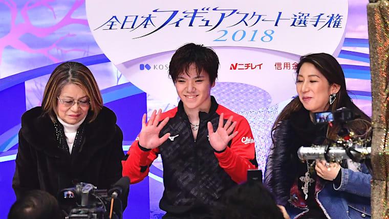 2018年12月の全日本選手権の男子ショートプログラムでは102.60点を出し、首位に立った