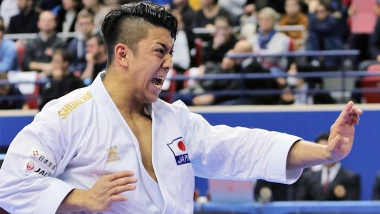 形種目で世界1位の喜友名諒。金メダル候補として東京五輪に挑む/時事