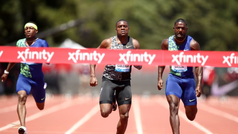 Christian Coleman beats Justin Gatlin to win the Prefontaine Classic on 30 June 2019