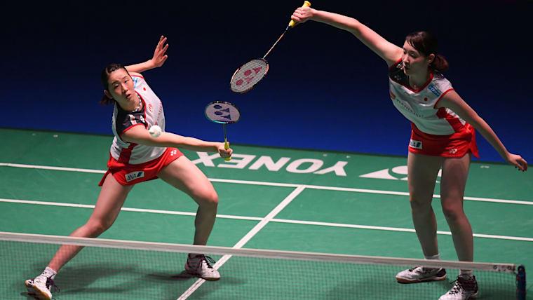 永原和可那/松本麻佑ペアは、準決勝で米元小春/田中志穂ペアと対戦する(写真は2018年のジャパン・オープン)