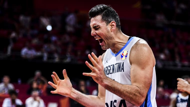 Luis Scola during the semi final match between Argentina and France oat the Cadillac Arena in Beijing, China.