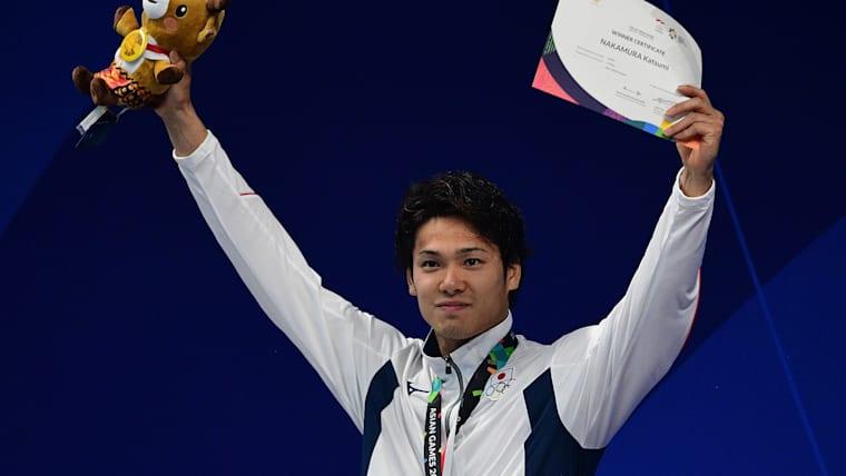 中村克は自由形を専門とし、国際大会の各種リレーで度々代表入りするなど、日本競泳界を支える存在だ