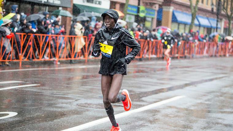 2017 Boston Marathon winner Edna Kiplagat at 2018 edition