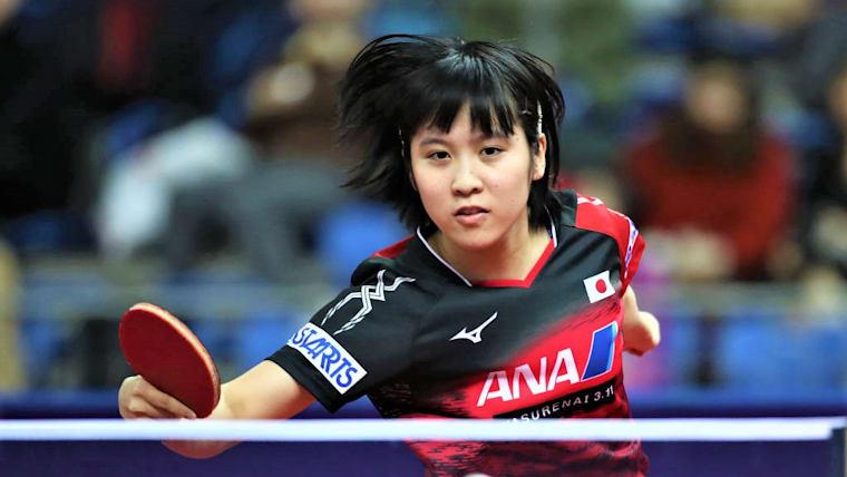平野美宇は、前日の女子ダブルスに続き、2つ目の銀メダルを獲得(写真は、ワールドツアー・グランドファイナル)