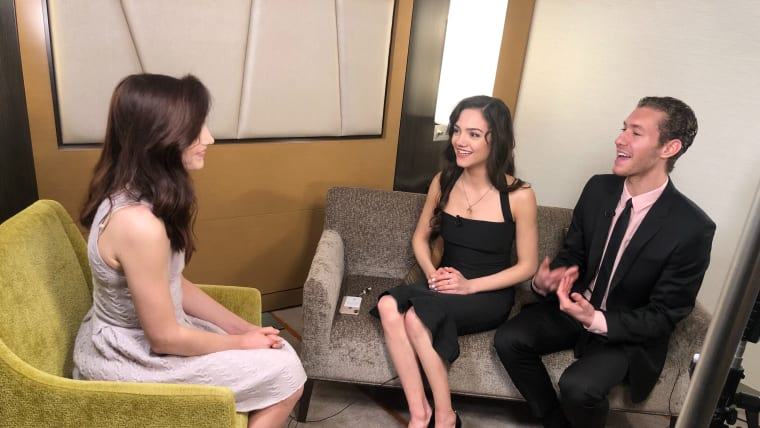 Meryl Davis chats to Evgenia Medvedeva and Jason Brown