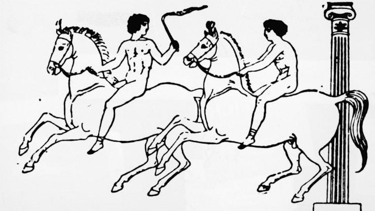 当初の古代オリンピックは「競走」の1種目だけだったが、のちにレスリング、ボクシング、戦車競走、競馬競走などが加わった