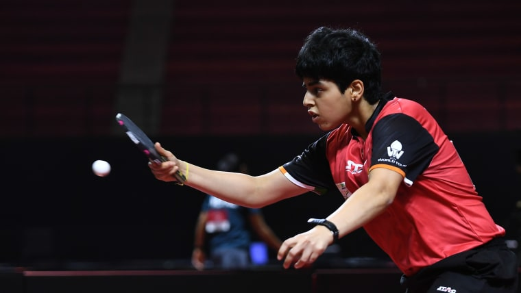 Archana Kamath paired with Sathiyan Gnanasekaran for the mixed doubles at the Asian TT Championships