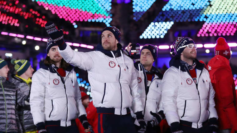 Much better... Team USA don mittens for the Closing Ceremony