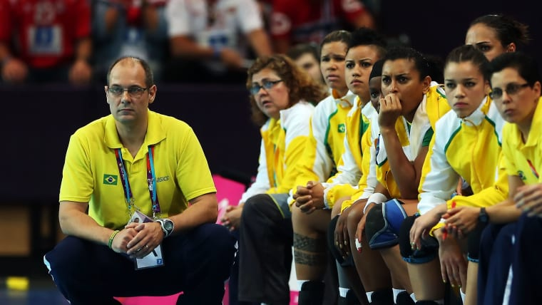 Morten Soubak as Brazil coach at London 2012