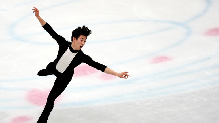 Nathan Chen during his short program at the World Championships in Saitama